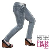 Stella Lace Print Design Slim Leg Jeans | UK Size 12-14 | Petite Inseam Select: 25, 26, 28 inches